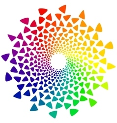Color wheel with triangles vector