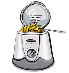 Deep fryer vector