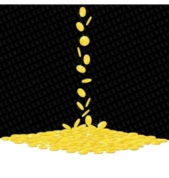 Falling golden coins gambling background vector