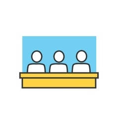 Students in classroom icon vector