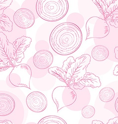 Seamless pattern with beet and its slice vector