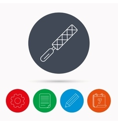 File tool icon carpenter equipment sign vector