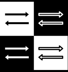 Arrow simple sign black and white icons vector