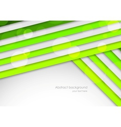 Background with green stripes vector image