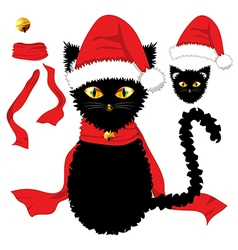 Black Cat Christmas Day vector image