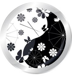 button with jaran parasol vector image
