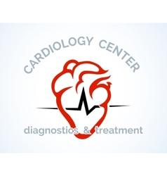 Cardiology centre logo vector