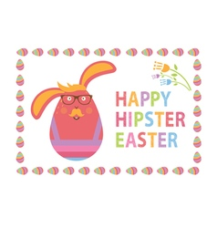 Concept Happy Easter card for hipsters vector image