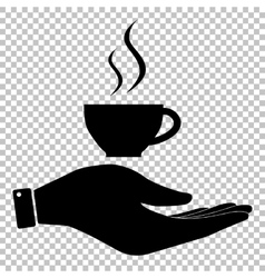 Cup of coffee sign vector image