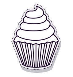 delicious cupcake isolated icon vector image vector image