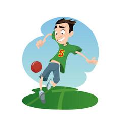 digital funny cartoon vector image vector image