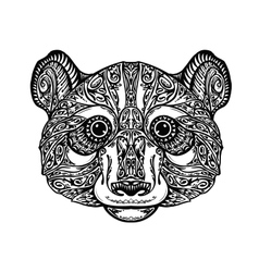 Ethnic ornamented panda bear vector
