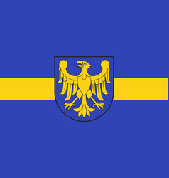 Flag of silesian voivodeship in southern poland vector