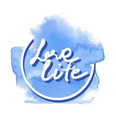 love life hand writing vector image