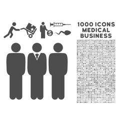Managers Icon with 1000 Medical Business vector image vector image