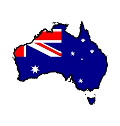 Map in colors of Australia vector image vector image