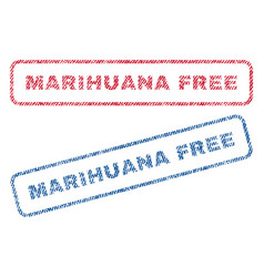 Marihuana free textile stamps vector