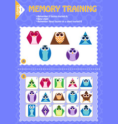 memory game children geometry shapes vector image