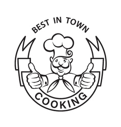 Mustachioed chef image vector