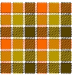 Orange clay marsh check plaid seamless pattern vector