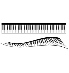 Piano keyboards set vector image