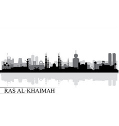 Ras al-khaimah city skyline silhouette background vector
