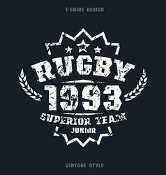 Rugby team emblem vector image