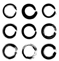 Set of ink circles vector