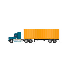 Shipping and freight of goods vector