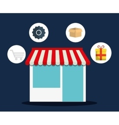 Shopping online store market icon graphic vector