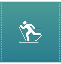 Skiing icon vector image