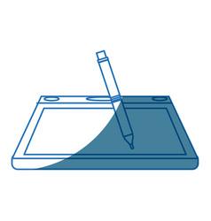 Tablet digital pen graphic design equipment vector