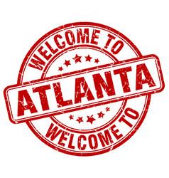welcome to atlanta vector image vector image