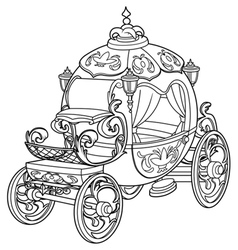 Cinderella fairy tale pumpkin carriage vector