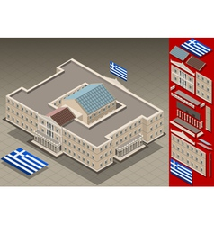 Isometric greek parliament vector