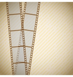film retro background vector image
