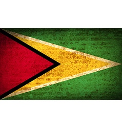 Flags guyana with dirty paper texture vector