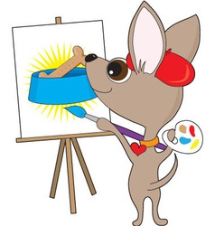 chihuahua artist vector image