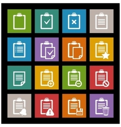 Office document icon vector