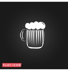 Glass of beer with foam vector