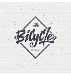 Bicycle badge insignia for any use such as signage vector