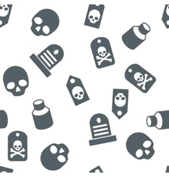Death objects seamless seamless flat vector