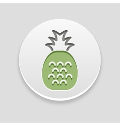 Pineapple icon fruit vector