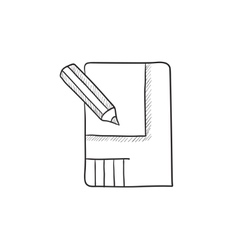 Layout of the house sketch icon vector