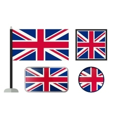 British flag icons vector
