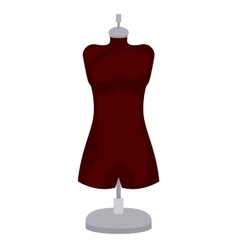 female mannequin isolated icon design vector image