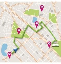 City map navigation vector