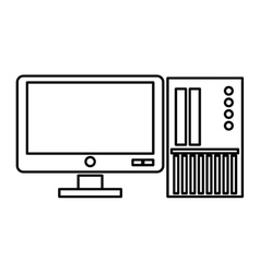 computer monitor with sd card vector image vector image