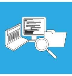 computer programming design vector image vector image