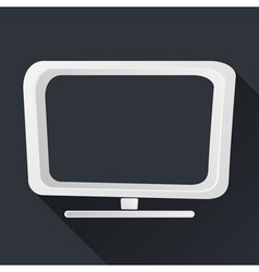 Concept TV Icon Long Shadows vector image
